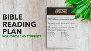 Youth Bible Reading Plan
